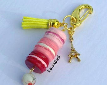 French Macaron Keychain