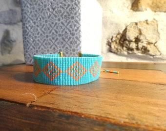 Cuff Bracelet woven seed beads