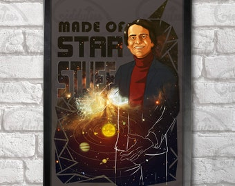 Carl Sagan Star Stuff print + 3 for 2 offer! size A3+  33 x 48 cm;  13 x 19 in