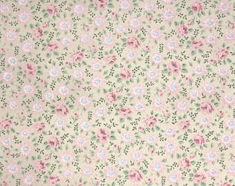 1960s Vintage Wallpaper by the Yard - Floral Vintage Wallpaper Pink Floral Chintz