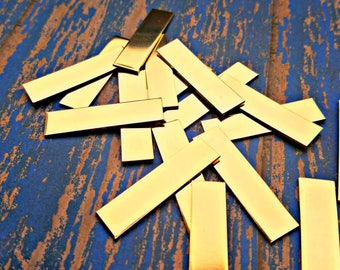 "Nu Gold 3/4"" x 2 1/4"" Rectangles Stamping Blanks"