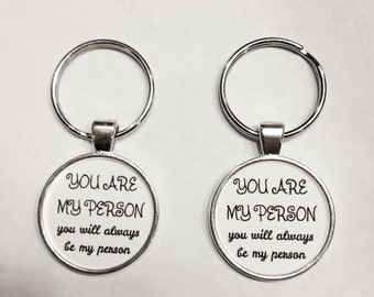 Best Friend Gift, You're My Person You Are My Person Keychain, Best Friend Keychain, Sister Mother Daughter Gift Keychain Set
