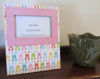 3x5 Easter Themed - Hand Decorated Picture Frame
