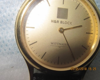 Vintage WITTNAUER  Gold tone Watch for H and  R  BLOCK