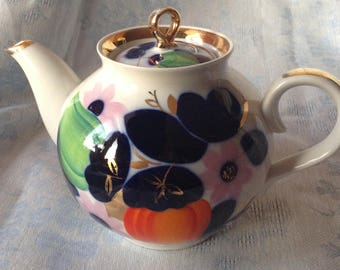 Soviet Times Porcelain Teapot Made And Hand Painted In 70-s