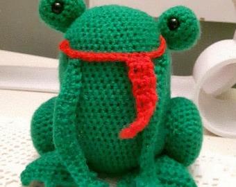 Amigurumi Frog Pattern, Crochet Frog Pattern