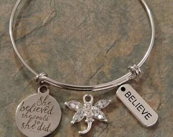 She Believed She Could Bracelet