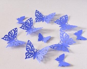 Purple Paper Butterfly - Batterflies Wall Decor - Birthday Paper Butterflies - 3D Paper Butterflies - Butterfly Party Decoration