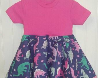 Fairly circle dress-dinosaur