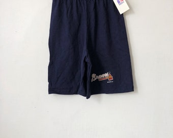 vintage atlanta braves shorts russell athletic youth size small deadstock NWT 1992 made in USA