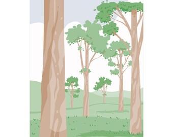 Australian Gumtrees print