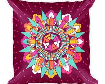 Mandala III Pattern Print Throw Pillow