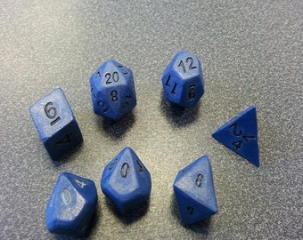 Standard 7 Set of Dice, Duskblade with Black Numbers