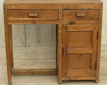 Small Vintage Indian Teakwood Desk
