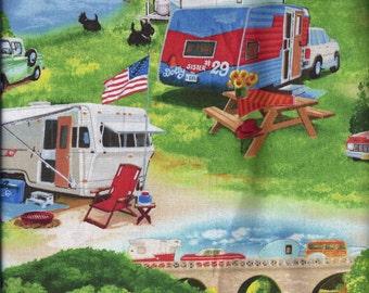 Vintage Camper Curtain Valance