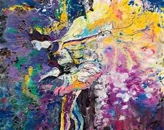 Ballerina Art, Dancer painting,The Moment by Pittsburgh artist Johno Prascak