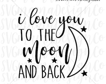 Download Moon and back svg   Etsy