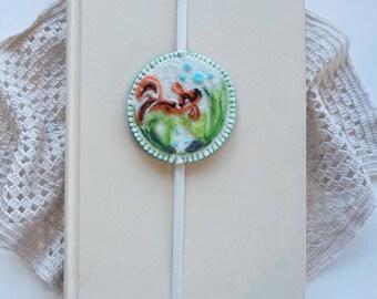 Needle felted Japanese Koi pond bookmark, Fish, Needle felted bookmark, Hand made, Bookmark, Gift, Ready to Ship