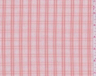 Clay Orange Windowpane Plaid Shirting, Fabric By The Yard