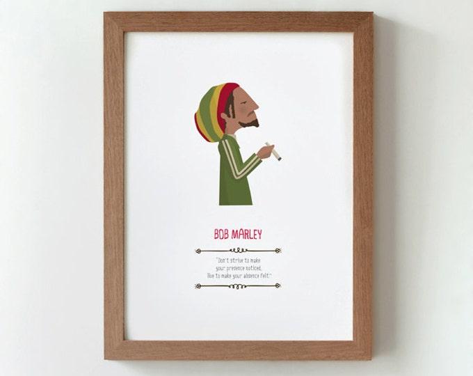 """Ilustración """"Bob Marley""""."""