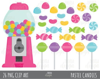 50% SALE CANDY clipart, bubble gum clipart, pink candies clipart, commercial use, candies graphics, cute, PARTY