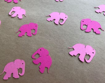 Pink Elephant Confetti - 100 pieces - Shades of Pink Confetti - Elephant Confetti - Elephant Baby Shower - Elephant Birthday Party