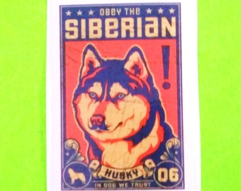 Obey the Dog Life Breed Trading Card Siberian Husky Shiba Inu Labrador Retriever Boxer Border Collie Cute Animal Vinyl Sticker - More Styles