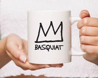 Jean-Michele Basquiat Cup Mug Gift 10oz Crown