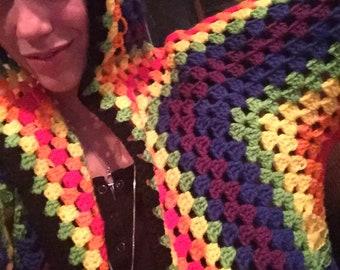 Rainbow Granny Square Sweater