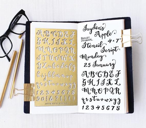 Alphabet Script Letter Stencil