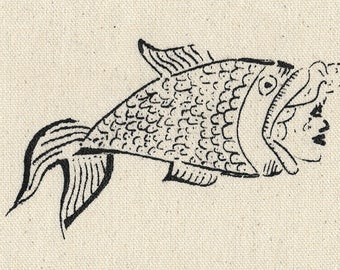 Fish woman patch
