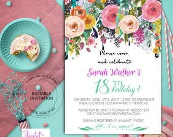 diy birthday invitations templates