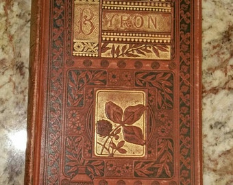 Antique hardbound book Byron's Poems