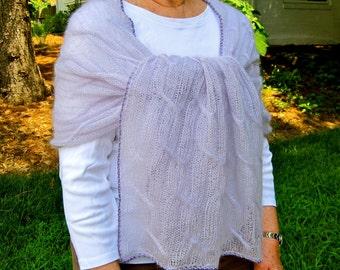 Knit Shawl Pattern:  Inishmaan Summer Cabled Shawl Knitting Pattern