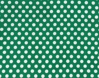 Michael Miller Fabric Kiss dot Polka Dot Spearmint Green, Choose your cut
