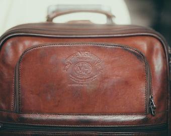 Ghurka Marley Hodgson No. 51 Traveler  Roller Suitcase (Chestnut) Vintage Designer