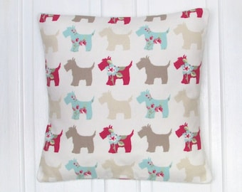 Taupe Scotty Dog Fabric Cushion, Fabric, Cushion, Home Decor, Handmade, Fabric, Home, Home and Garden, Free Postage