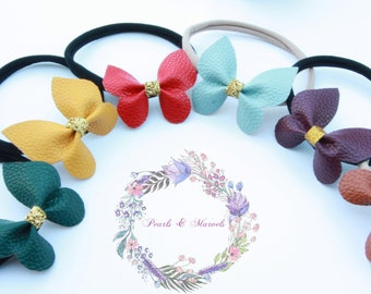 Butterfly Leather Headbands, Clips