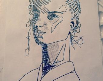 """Poster  """"Line Work"""" - Estelle Aesthetic"""
