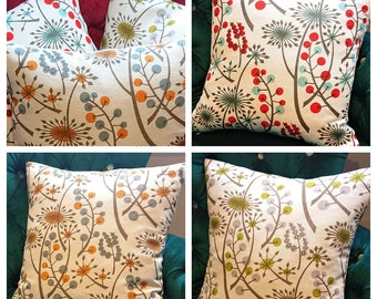 "St. Judes Cushion Covers - ""Hedgerow"" By British Designer Angie Lewin - Stunning Modern Floral Cushion Cover"