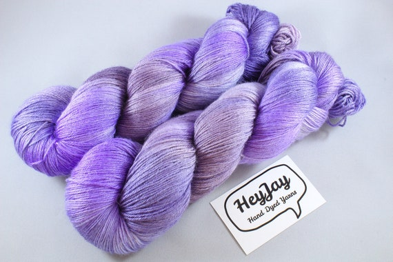 Plus Size Skein, Hand Dyed Sock Yarn 4ply, 150g/600m, BFL and Silk - Spyro