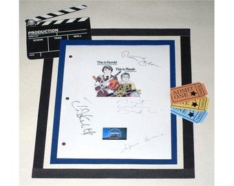 Harold and Maude 1971 Movie Script Signed Screenplay Autographed: Ruth Gordon, Bud Cort, Cyril Kusack, Tom Skerritt, Cat Stevens