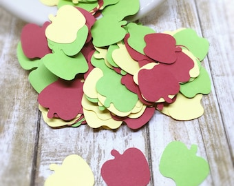 Apple Confetti, Apple Punches, Confetti Punches, Apple Diecuts, Scrapbooking Embellishments, 150 Count