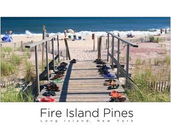 Fire Island Pines Mini-Poster - Beach