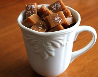 Fleur de Sel Caramels 1/2 lb - Small Batch Salted Caramel half pound