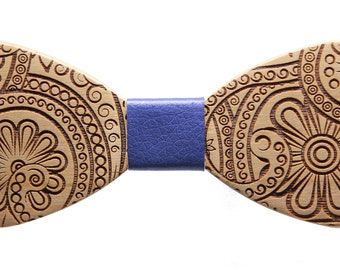 Handmade wooden bow tie, chic fashion accessory