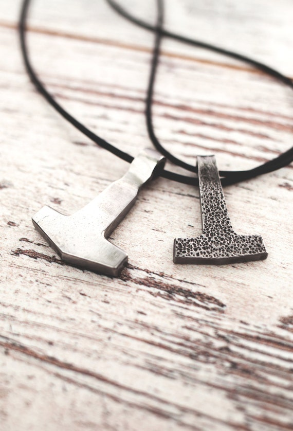 Jolnir the thors hammer pendant viking pendant made like this item mozeypictures Gallery