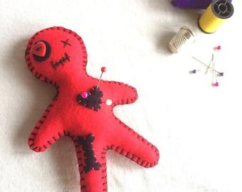 Voodoo Doll Pin Cushion - Needle Cushion - Needle Keeper - Novelty Pin Cushion - Juju Doll - Poppet - Voodoo Doll - Valentine's Gift