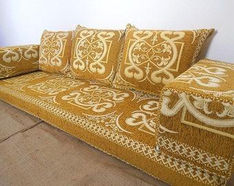 Oriental Floor Seating, Arabic Style Majlis Floor Sofa Set, Floor Couch,  Floor Seating Sofa, Ethnic Sofa,bohemian Furniture,living Room Sofa