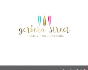 hair clip logo premade logo girl hair logo barrett logo logo designs hair logo designs beauty logo designs hair stylist logo beautician logo